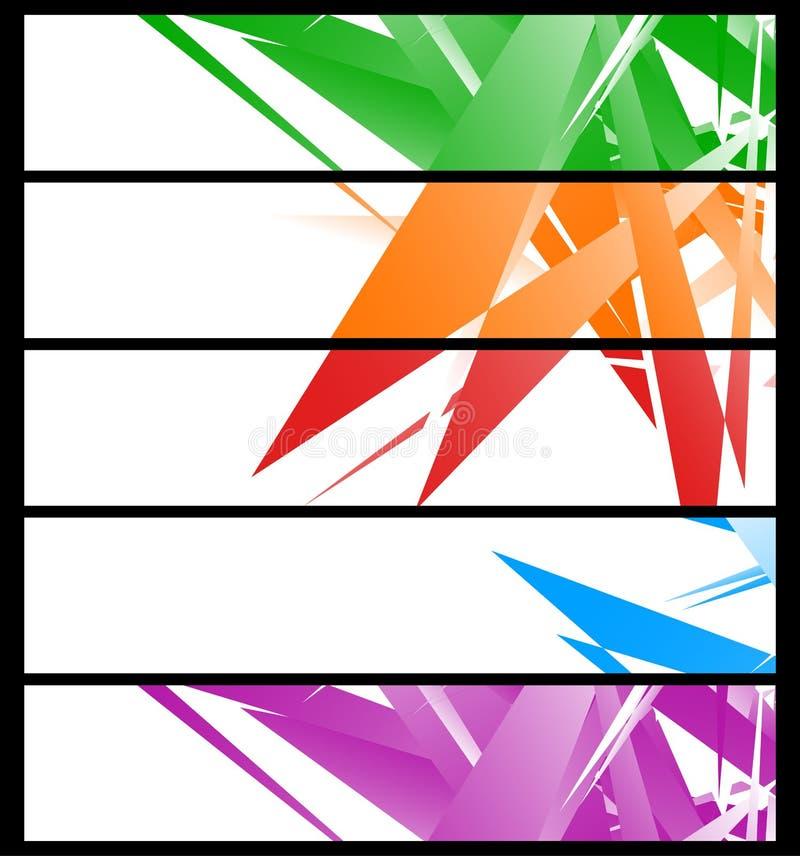 Plantillas De La Bandera Con El Arte Geométrico Abstracto - Sistema ...