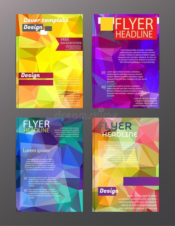 Plantillas de la disposición de diseño del aviador del folleto del vector Extracto libre illustration