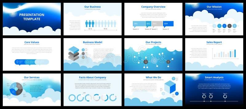 Plantillas de la presentación del negocio ilustración del vector