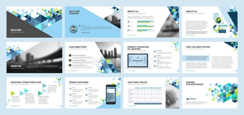 Plantillas de la presentación del negocio stock de ilustración