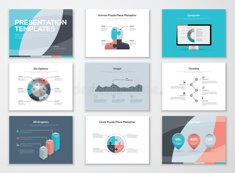 Plantillas de la presentación del negocio y elementos infographic del vector ilustración del vector