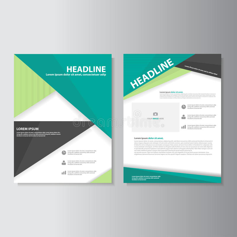 Plantillas de la presentación del prospecto del aviador del folleto del verde de Eco stock de ilustración