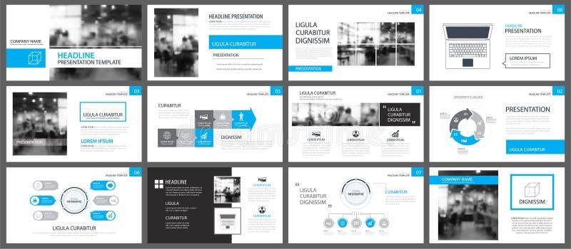 Plantillas de la presentación y fondo azules de los elementos del infographics libre illustration