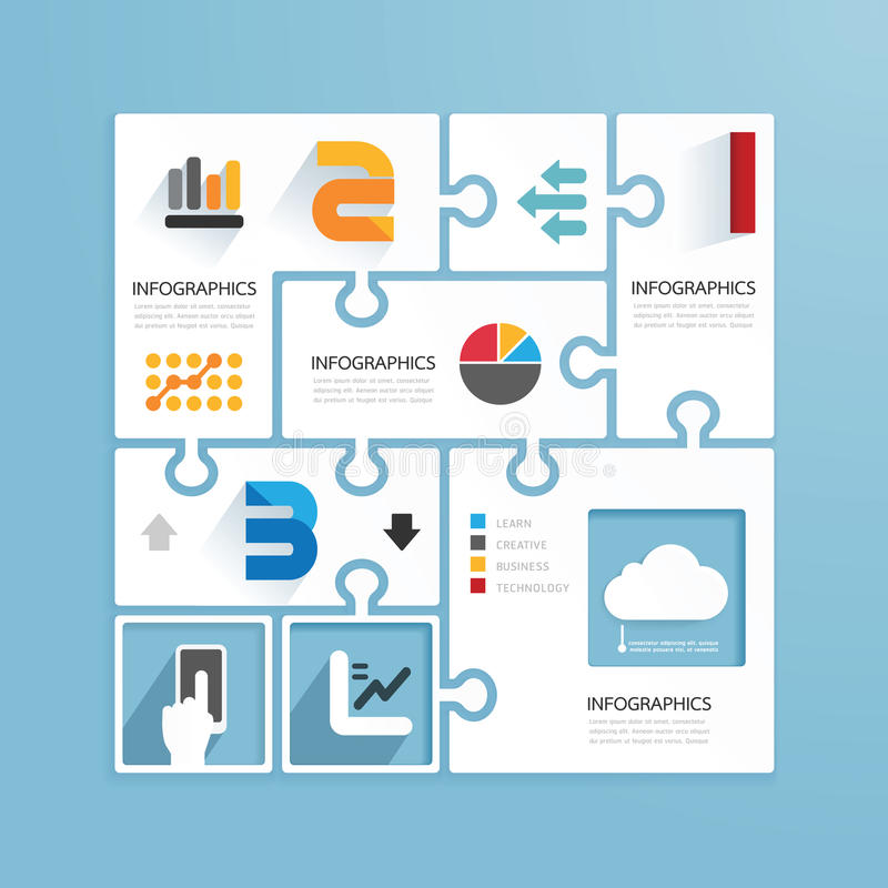 Plantillas de papel infographic del estilo mínimo del diseño moderno libre illustration