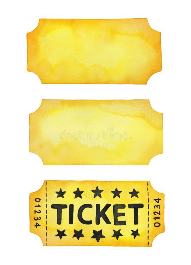 Plantillas del boleto de la entrada para el diseño creativo, muestra, bandera, invitación, tarjeta, aviador, cartel libre illustration