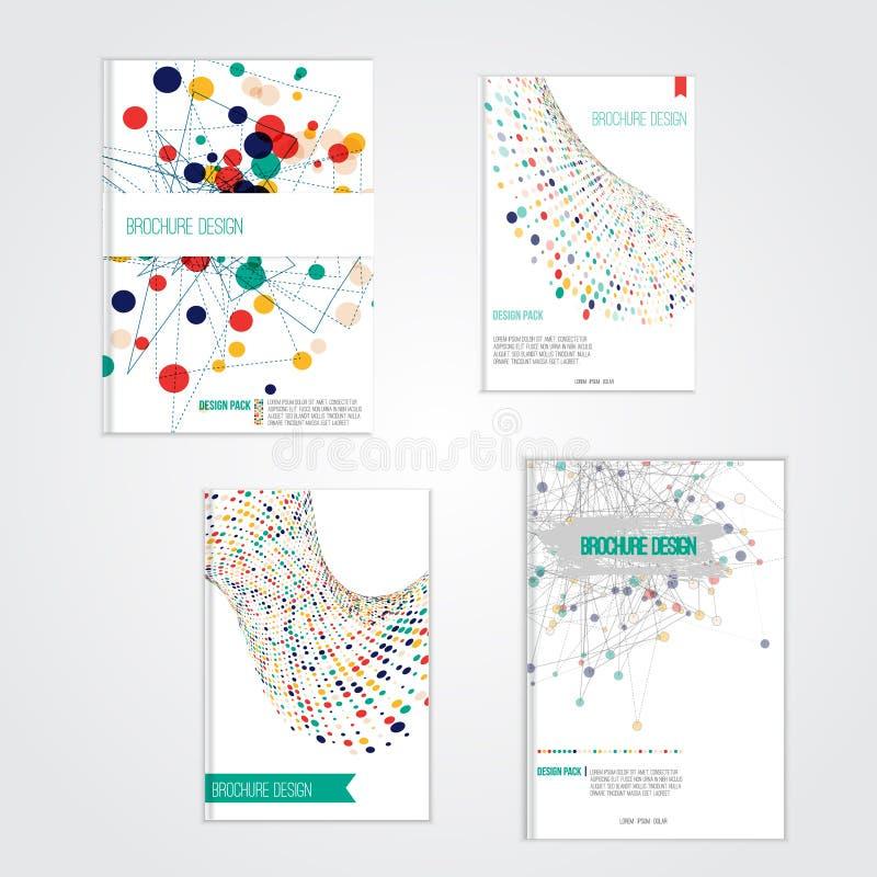 Plantillas del diseño de la cubierta del folleto del vector con stock de ilustración