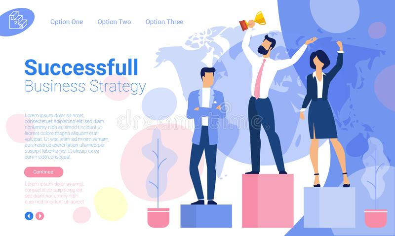 Plantillas del diseño de la página web stock de ilustración