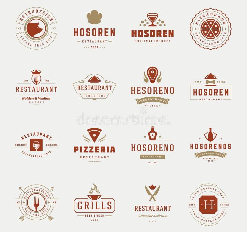 Plantillas Del Diseño De Los Logotipos Del Restaurante Del Vintage ...