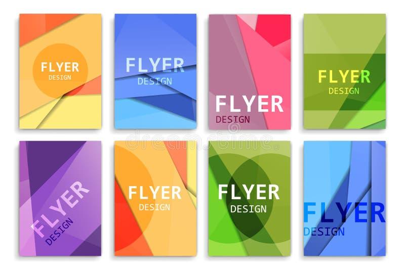 Plantillas del diseño del folleto stock de ilustración