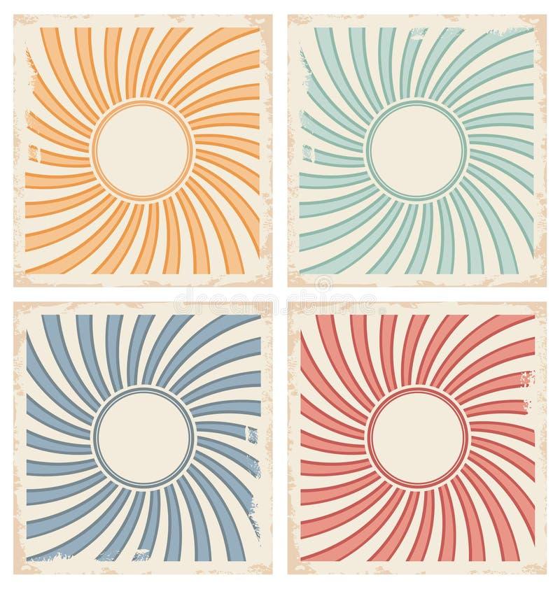 Plantillas del fondo de la tarjeta del vintage libre illustration