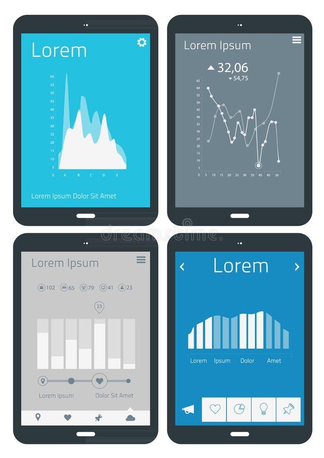 Plantillas del infographics de UI ilustración del vector