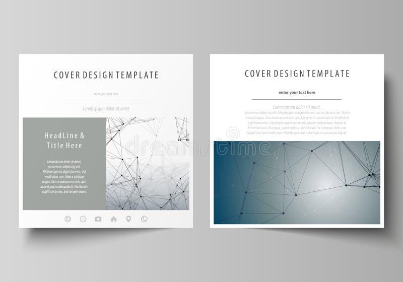 Plantillas del negocio para el folleto cuadrado del diseño, revista, aviador, folleto Cubierta del prospecto, disposición del vec libre illustration