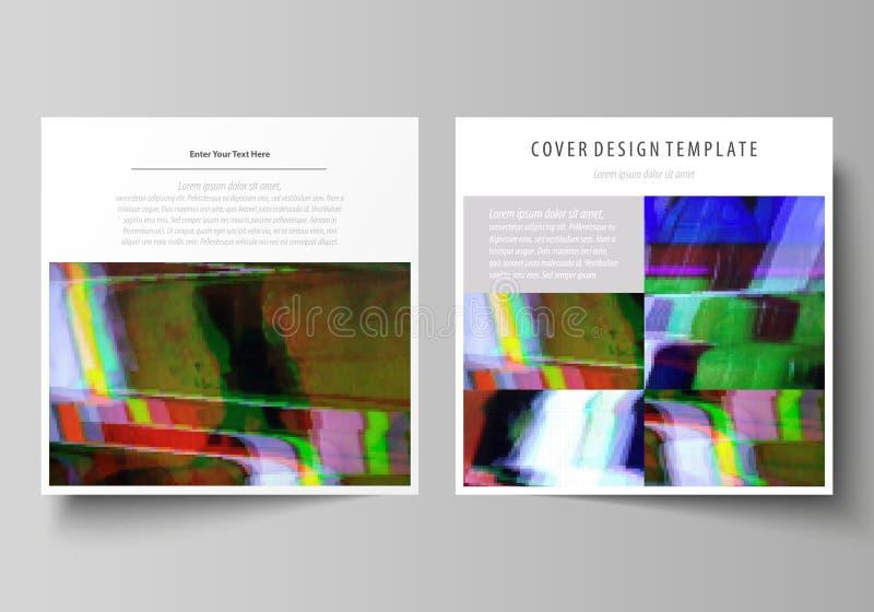 Plantillas del negocio para el folleto cuadrado del diseño, aviador, informe Cubierta del prospecto, disposición abstracta del ve stock de ilustración