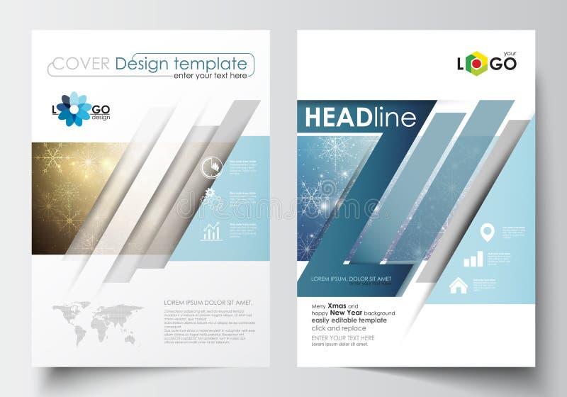 Plantillas del negocio para el folleto, la revista, el aviador, el folleto o el informe Cubra la plantilla del diseño, vector edi ilustración del vector
