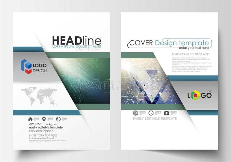 Plantillas del negocio para el folleto, revista, aviador, folleto, informe Cubra la plantilla del diseño, disposición del vector, stock de ilustración