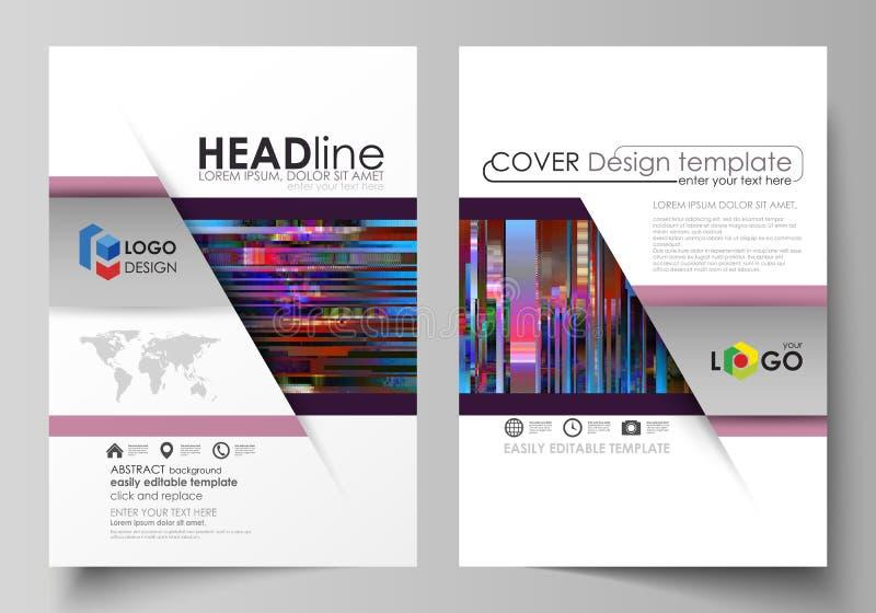 Plantillas del negocio para el folleto, revista, aviador, informe anual Cubra la plantilla del diseño, disposición abstracta del  ilustración del vector