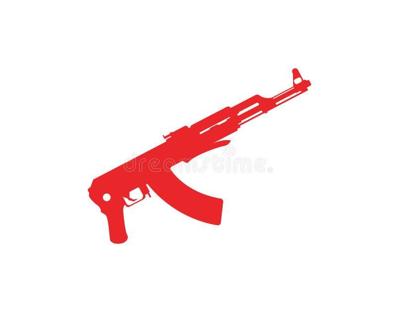 Plantillas del símbolo del vector del arma stock de ilustración