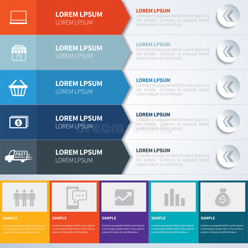 Plantillas determinadas de Infographics ilustración del vector