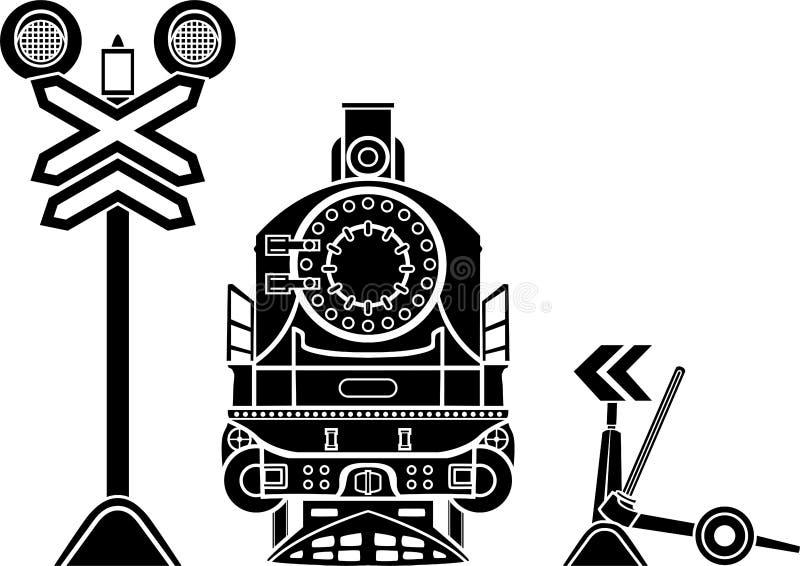 Plantillas ferroviarias fotografía de archivo