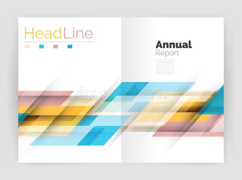 Plantillas geométricas modernas Cubiertas del folleto del aviador del negocio o del informe anual ilustración del vector