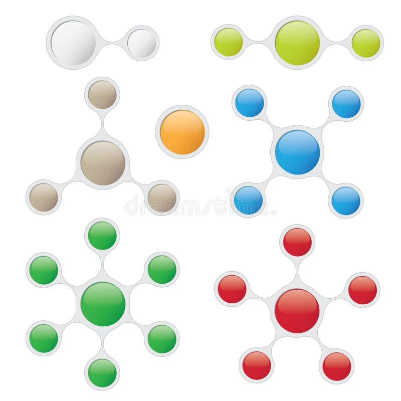 Plantillas gráficas de la información en estilo de la burbuja stock de ilustración