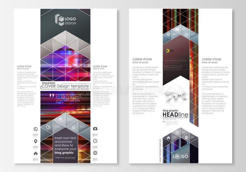 Plantillas gráficas del negocio del blog Plantilla del diseño del sitio web de la página, disposición abstracta del vector Fondo  ilustración del vector