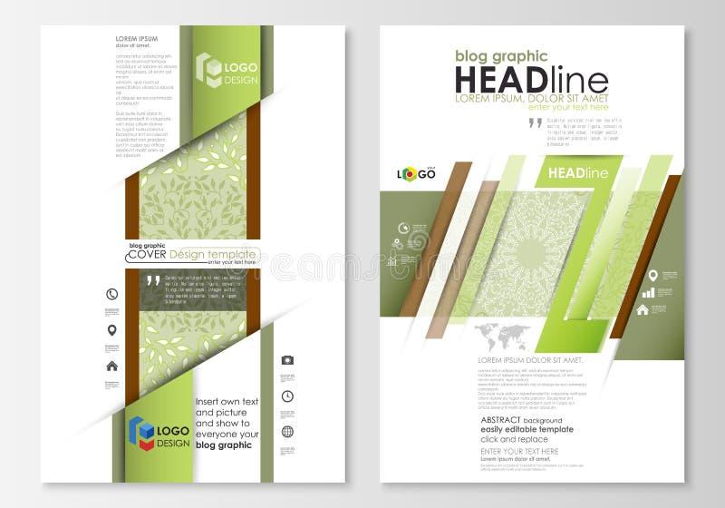 Plantillas gráficas del negocio del blog Plantilla del diseño del sitio web de la página, disposición plana abstracta Fondo del c libre illustration