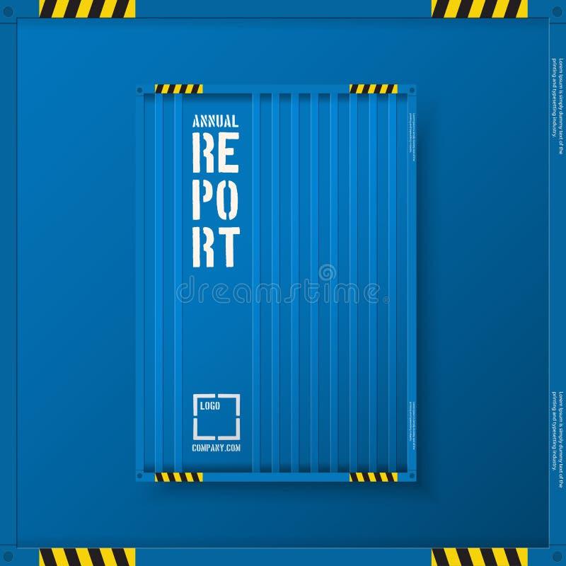 Plantillas logísticas del negocio del transporte para el folleto de los aviadores Carpeta del informe anual de la industria naval ilustración del vector