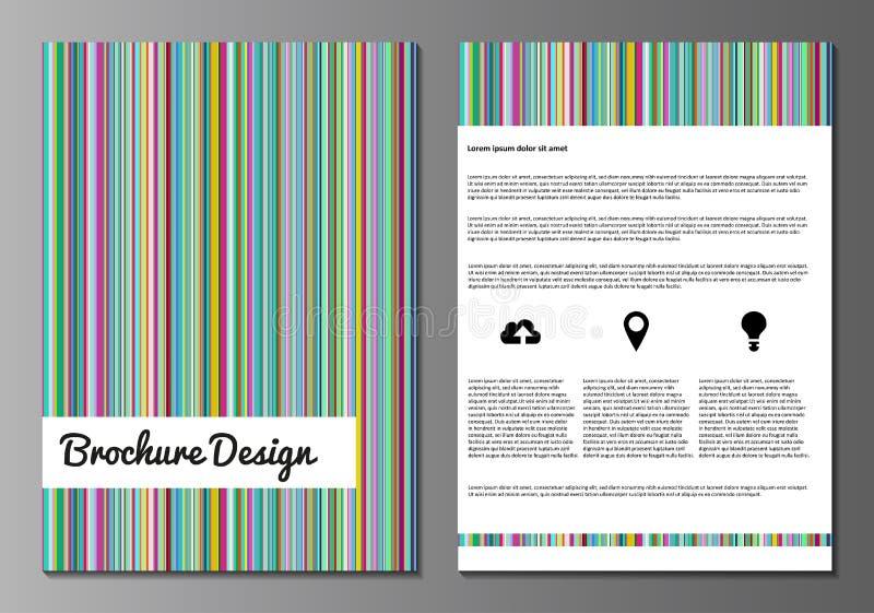 Plantillas minnimalistic del diseño del folleto libre illustration