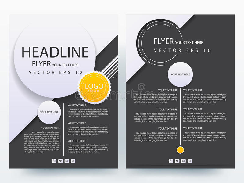 Plantillas modernas abstractas del diseño del folleto de los aviadores ilustración del vector
