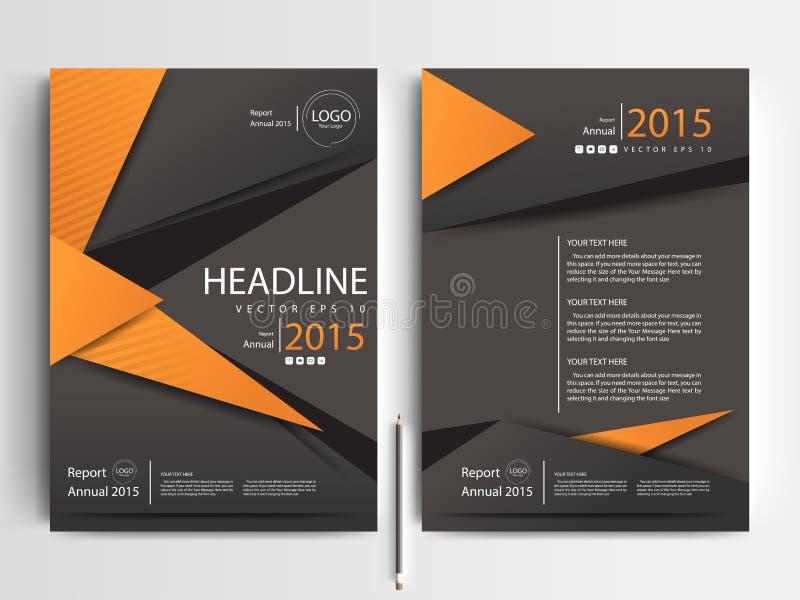 Plantillas modernas del diseño del folleto de los aviadores del vector abstracto stock de ilustración