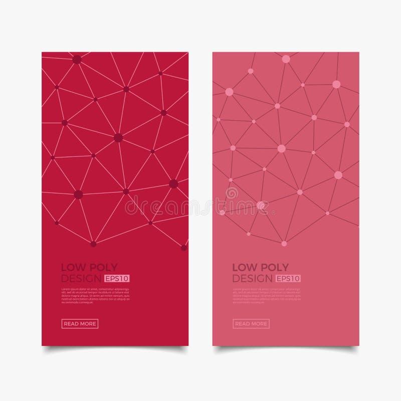 Plantillas modernas del vector Fondo geométrico abstracto con las líneas y los puntos conectados Negocio, ciencia, medicina, molé libre illustration