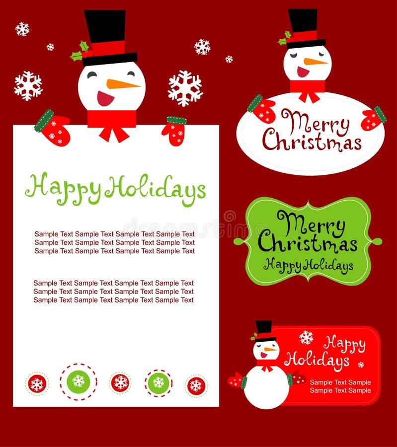 Plantillas Para La Tarjeta De Felicitación De La Navidad, Etiqueta ...