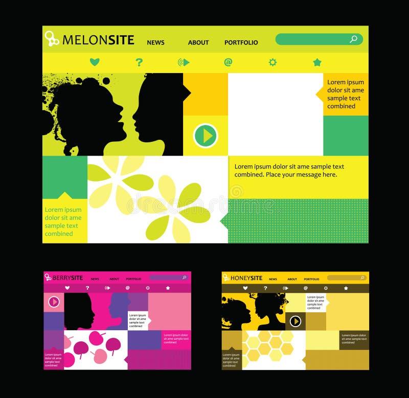Plantillas Responsivas Del Diseño Web En Diversos Colores ...
