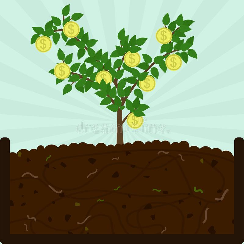 Free Planting Coin Tree And Compost Royalty Free Stock Photos - 145166578