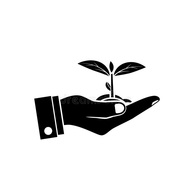 Planting sapling vector illustration