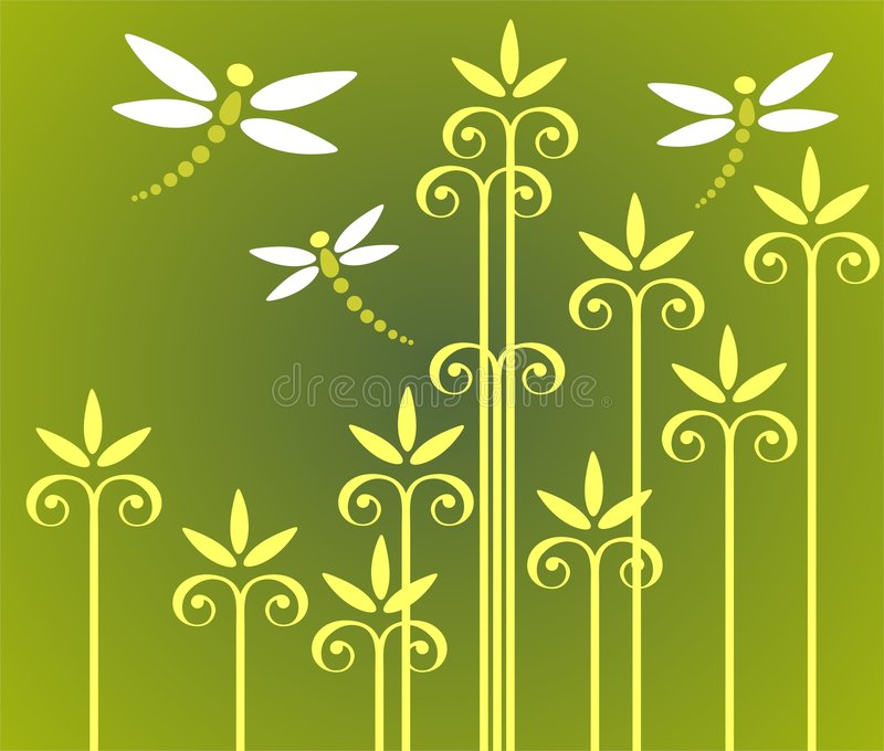 Download Plants And Dragonflies Royalty Free Stock Images - Image: 4789619