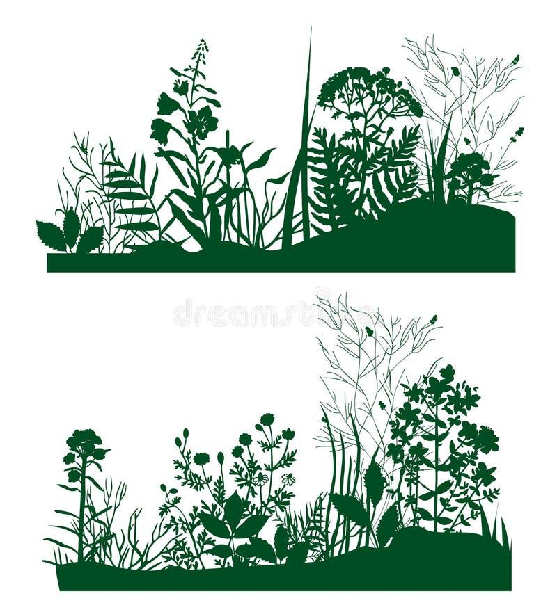 Plants_silhouette illustrazione vettoriale