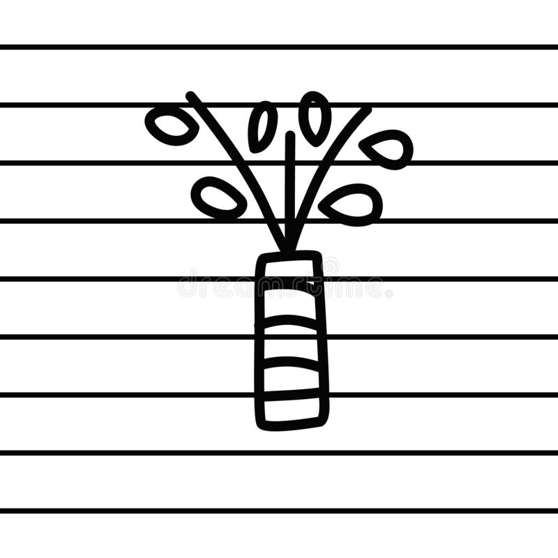 Plants in a vase logo in cartoon images on paper. can be applied to various media either paper or plastic. This plants in a vase. Logo can also be used for royalty free illustration