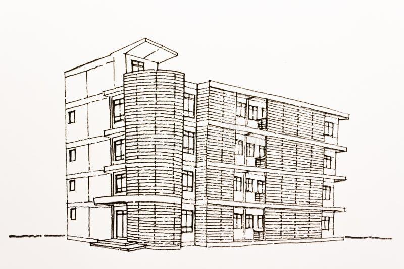 planu architektoniczny ramowy drut royalty ilustracja