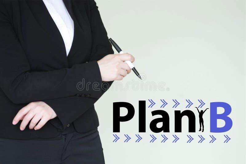 Planu b pojęcie dziewczyny biznesowa kobieta zdjęcie stock