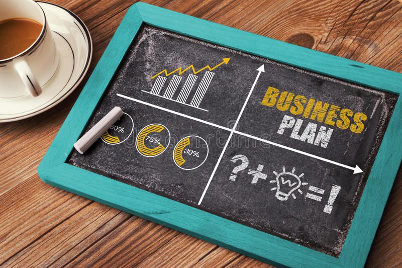Planu biznesowego pojęcie z pieniężną mapą zdjęcie stock