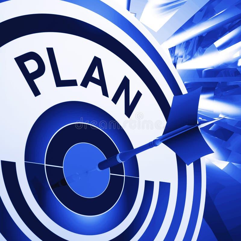 Planu cel Znaczy planowanie, misje I cele, royalty ilustracja