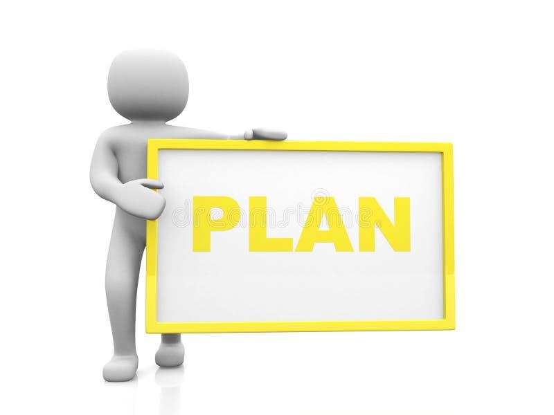 Planu pojęcie. Odizolowywający na białym tle fotografia stock