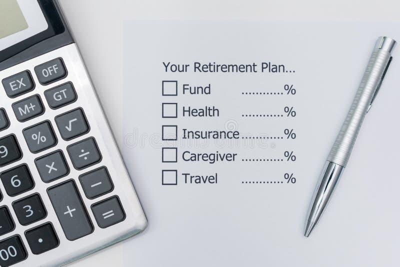 Planujący przyszłość którą, po emerytura, ty musisz przydzielać fotografia royalty free