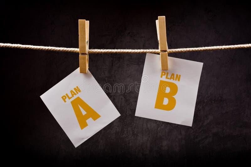 Planuje A lub Planuje b, konceptualny wizerunek zdjęcia royalty free