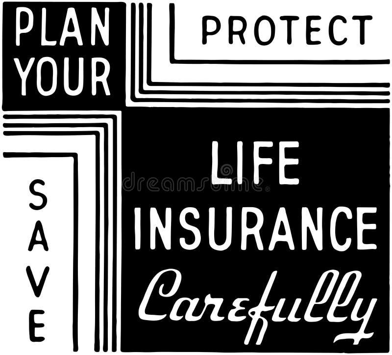 Planuje Twój ubezpieczenie na życie royalty ilustracja