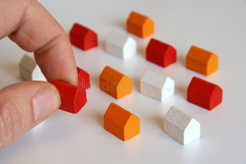 Planung, ein Haus aufzubauen stockfotos