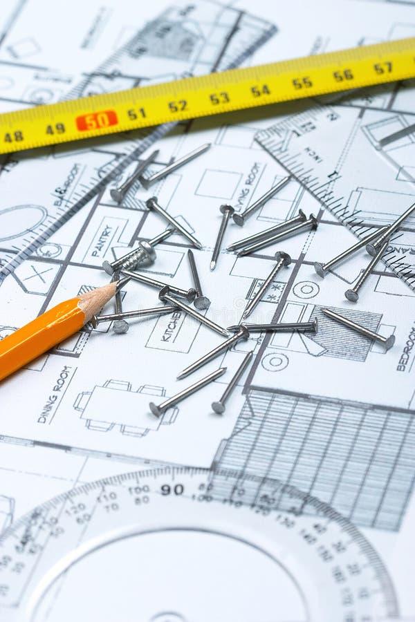 Planung eines Hauses lizenzfreie stockfotografie