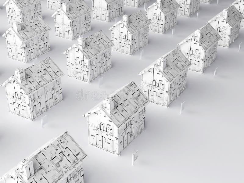 Planung für ein neues Haus lizenzfreie abbildung